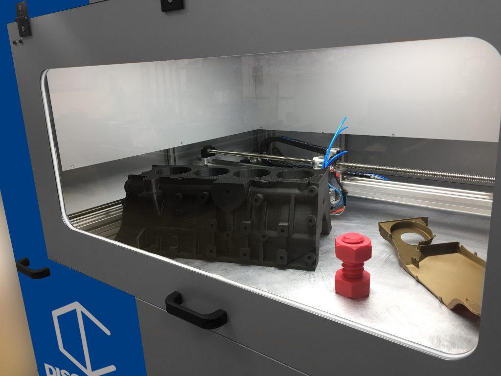 Detalle Discovery 3D printer
