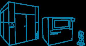 Impresora y escáner 3D industrial