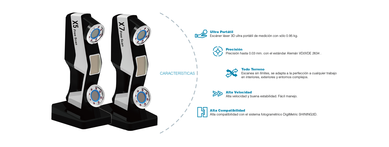 Escáner 3D industrial portátil