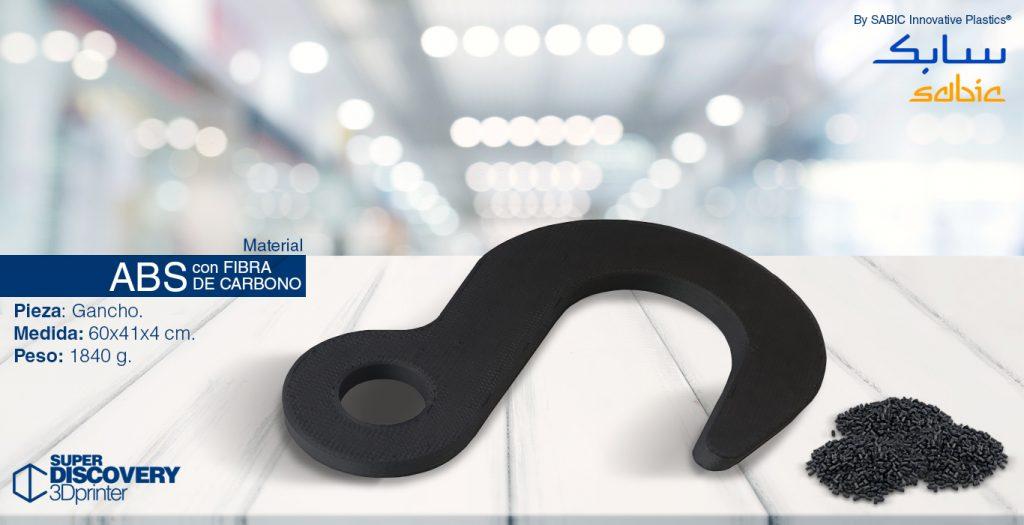 material ABS fibra de carbono sabic granza