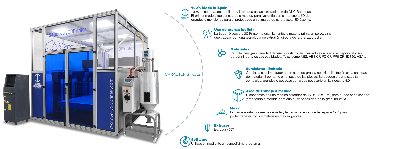 impresora industrial 3D super discovery