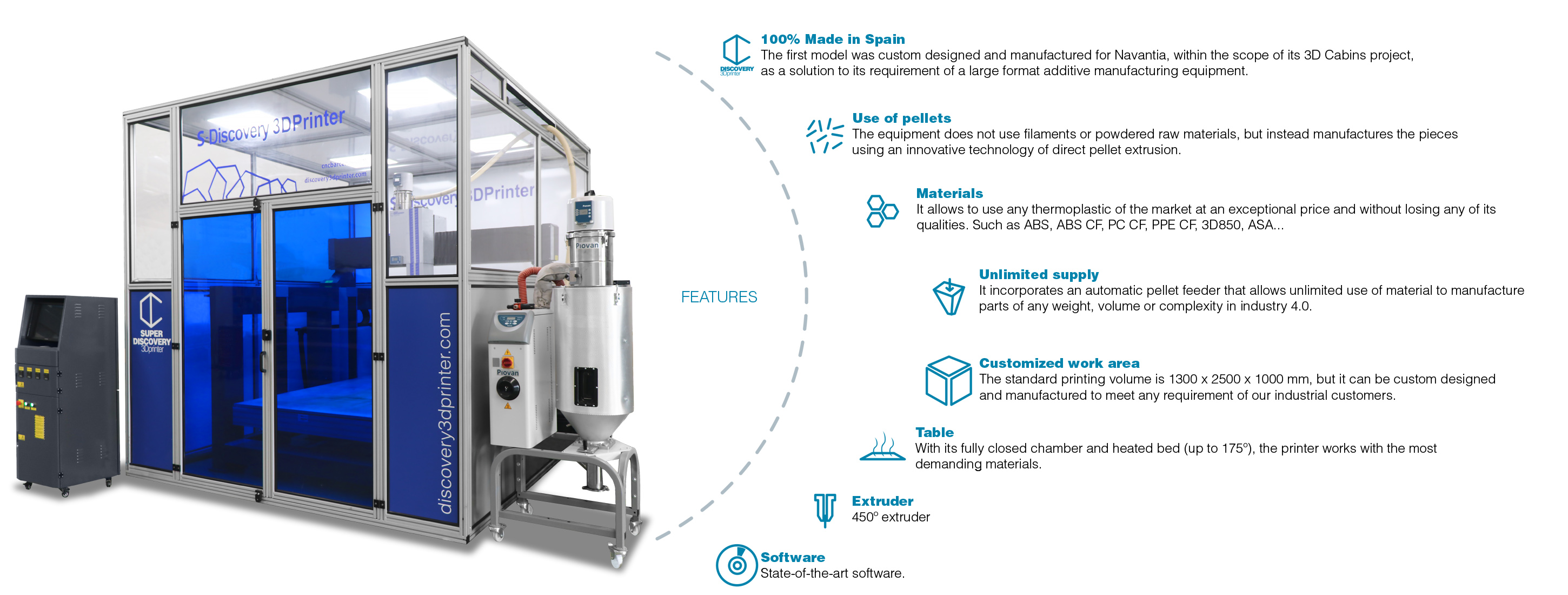 Industrial 3D printer Super discovery